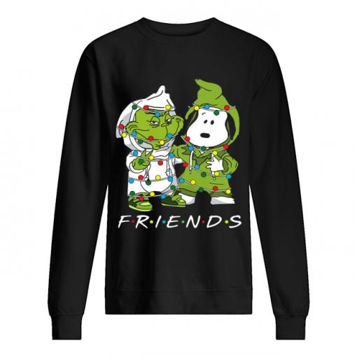 Friends Grinch and Snoopy light christmas  Unisex Sweatshirt