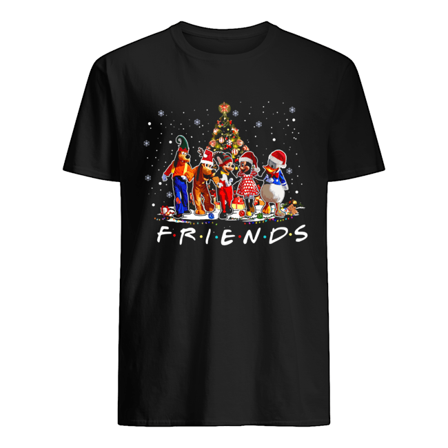 Friends Mickey Mouse characters christmas tree Classic Men's T-shirt