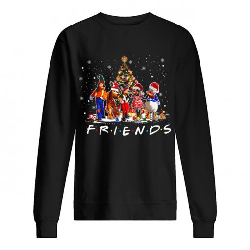 Friends Mickey Mouse characters christmas tree  Unisex Sweatshirt