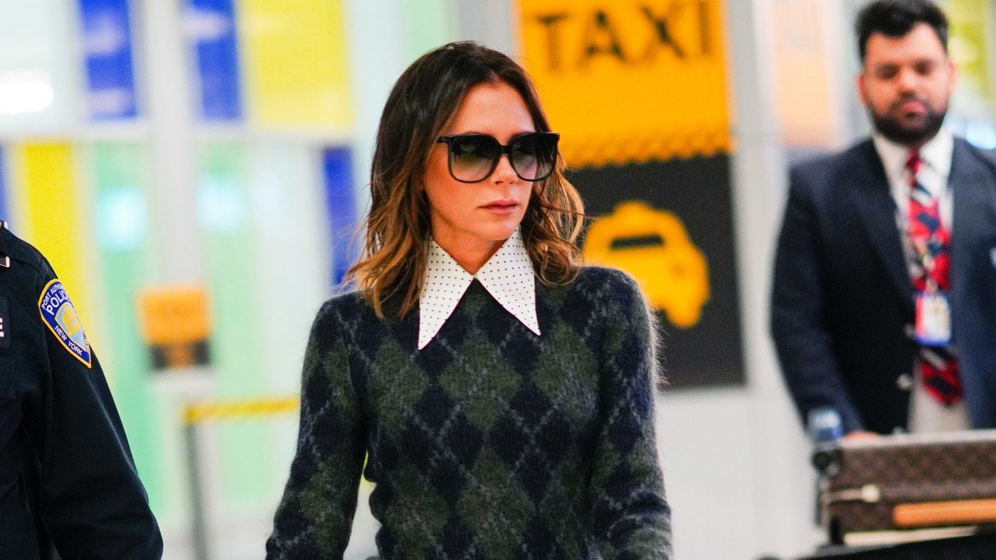 Victoria Beckham Brings Her Favorite Rule-Breaking Boots to the Airport