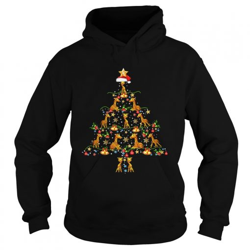 Giraffe Ornament Decoration Christmas Tree  Hoodie