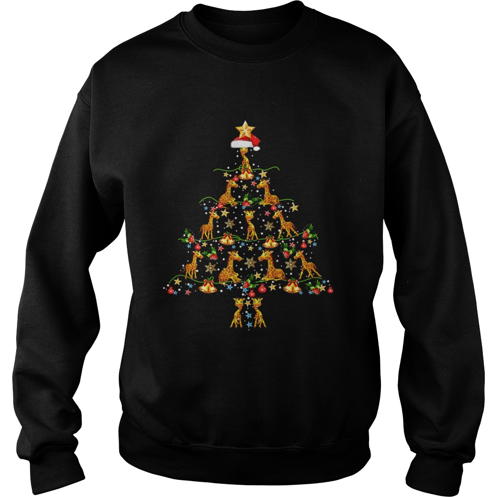 Giraffe Ornament Decoration Christmas Tree Sweatshirt