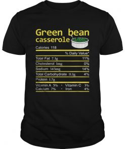 Green Bean Casserole Nutrition Facts Thanksgiving Christmas  Unisex