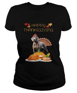 Happy Thanksgiving Day Weimaraner Gift Dog Funny Turkey  Classic Ladies