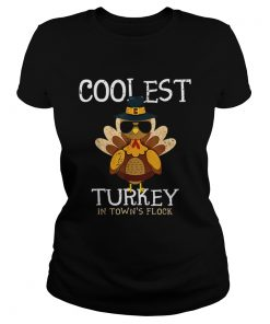 Hot Kids Coolest Turkey In The Towns Flock Thanksgiving boys  Classic Ladies