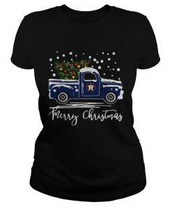 Houston Astros Blue car merry Christmas  Classic Ladies