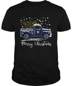 Houston Astros Blue car merry Christmas  Unisex