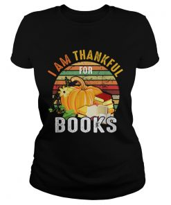 I Am Thankful For Books Vintage  Classic Ladies