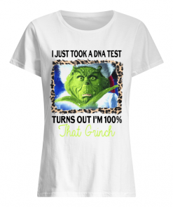 I just took a DNA test turns out I'm 100% that Grinch  Classic Women's T-shirt