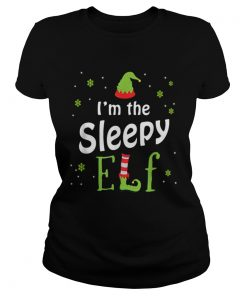 Im The Sleepy Elf Funny Group Matching Family Xmas Gift  Classic Ladies