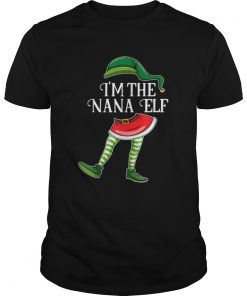 Im the Nana Elf Christmas Matching Family Group Gift  Unisex