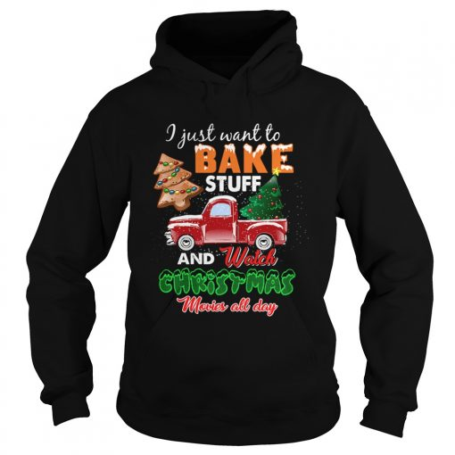 Lets Bake Stuff Drink Wine and Watch Christmas Movies Funny  Hoodie