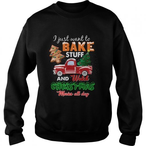 Lets Bake Stuff Drink Wine and Watch Christmas Movies Funny  Sweatshirt