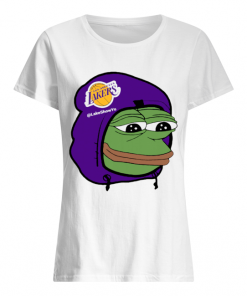 Los Angeles Lakers Sad Pepe the Frog  Classic Women's T-shirt