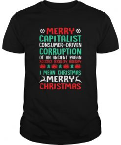 MERRY CAPITALIST PAGAN HOLIDAY Christmas  Unisex