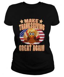Make Thanksgiving Great Again Thanksgiving Trump Turkey  Classic Ladies