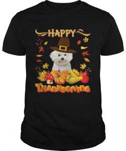 Nice Happy Thanksgiving Bichons Frise Dog Im Thankful For My  Unisex
