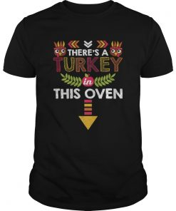 Nice Thanksgiving Baby Announcement Turkey in this Oven  Unisex