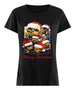 Notorious Big Snoop Dogg Ice Cube Eminem Tupac Santa Merry Christmas  Classic Women's T-shirt