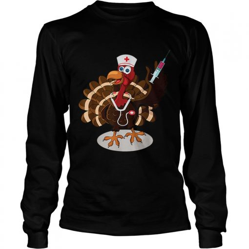 Nurse Turkey Costume Thanksgiving Doctor Gifts  LongSleeve