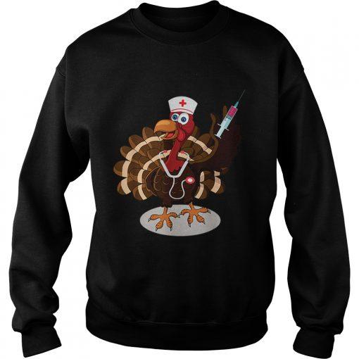Nurse Turkey Costume Thanksgiving Doctor Gifts  Sweatshirt