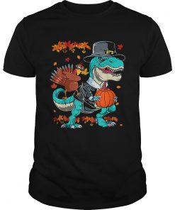 Original Thanksgiving TRex Dinosaur Dabbing Turkey Funny Gift Boy  Unisex