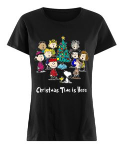 Peanuts Charlie Brown Snoopy Christmas Time is here  Classic Women's T-shirt