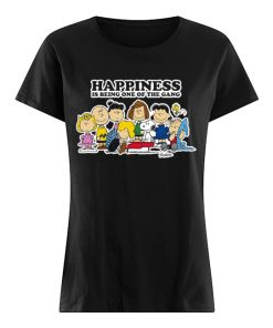 Peanuts Charlie Brown Snoopy Happiness is being one of the Gang  Classic Women's T-shirt