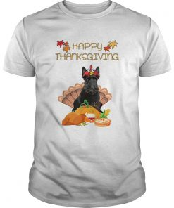 Premium Happy Thanksgiving Day Scottish Terrier Gift Funny Turkey  Unisex