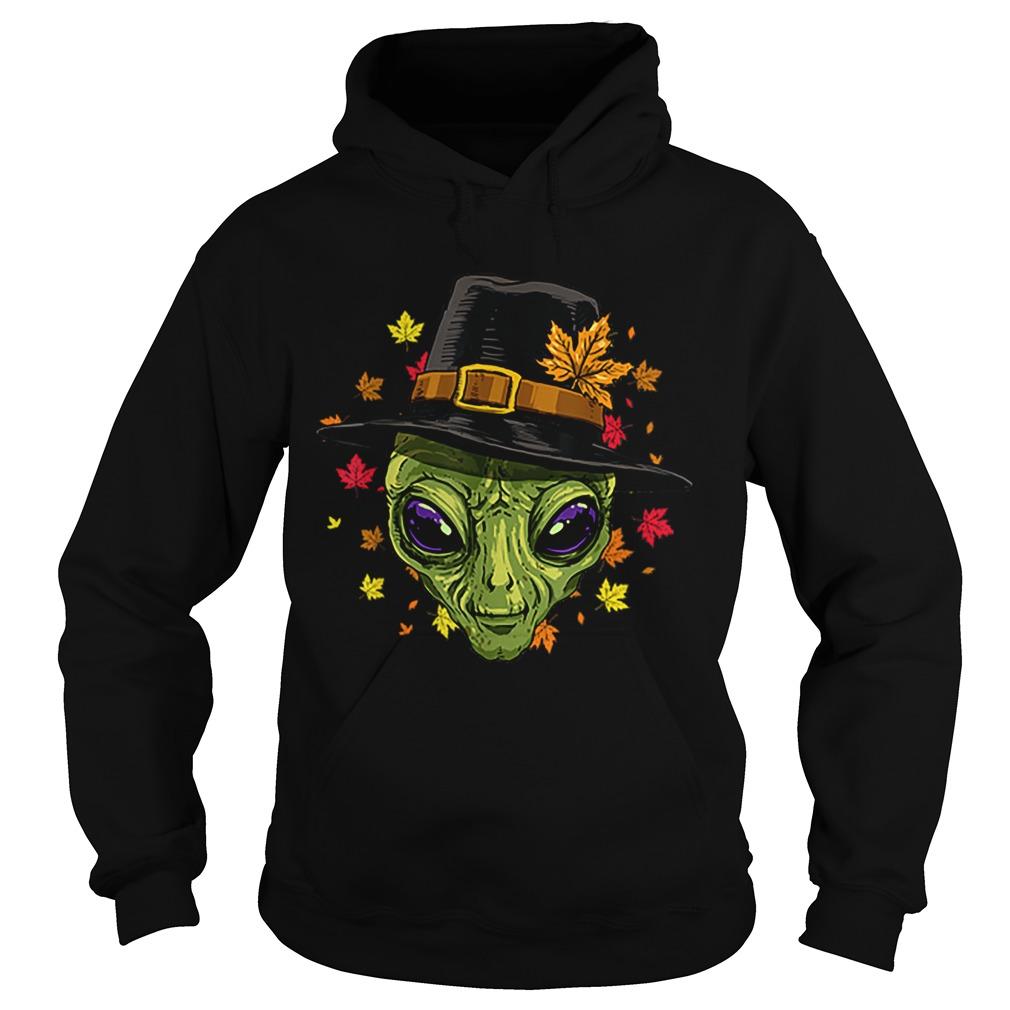 Pretty Thanksgiving Alien Pilgrim Costume Men Women Hoodie