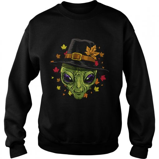 Pretty Thanksgiving Alien Pilgrim Costume Men Women  Sweatshirt