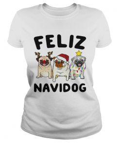 Pugs feliz navidog Christmas  Classic Ladies