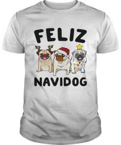 Pugs feliz navidog Christmas  Unisex