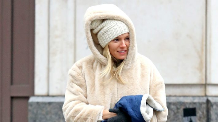 Sienna Miller's Bundled-Up Look Is a Major Winter Mood