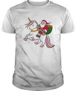 Santa Riding Unicorn Cute Girls Christmas  Unisex