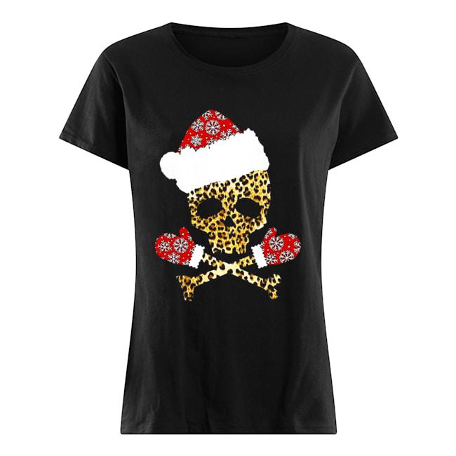 Santa Skull Leopard Christmas Classic Women's T-shirt