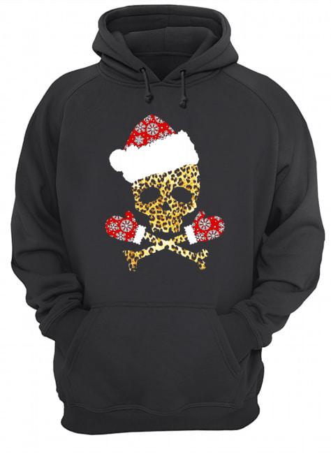 Santa Skull Leopard Christmas  Unisex Hoodie