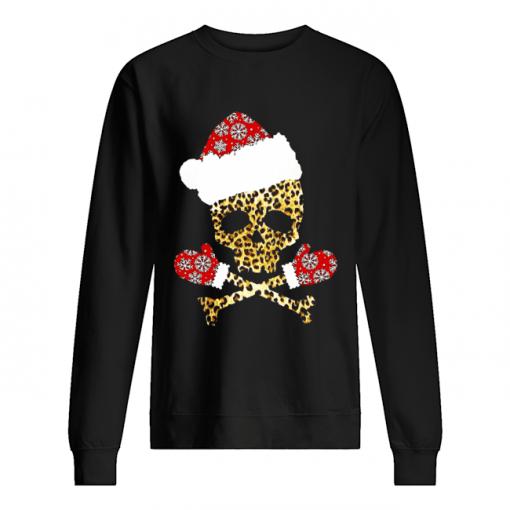 Santa Skull Leopard Christmas  Unisex Sweatshirt