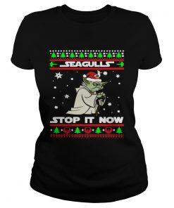Santa Yoda Seagulls stop it now Christmas  Classic Ladies