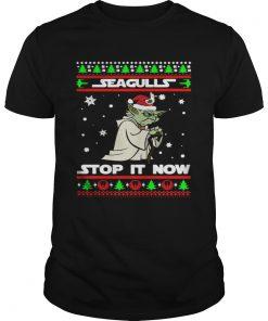 Santa Yoda Seagulls stop it now Christmas  Unisex