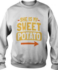 She Is My Sweet Potato Couples Matching Thanksgiving  Sweatshirt