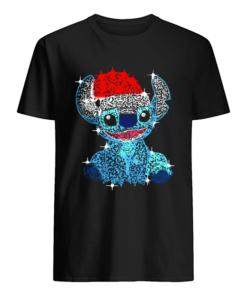 Stitch Diamond Merry Christmas  Classic Men's T-shirt