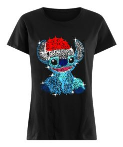 Stitch Diamond Merry Christmas  Classic Women's T-shirt