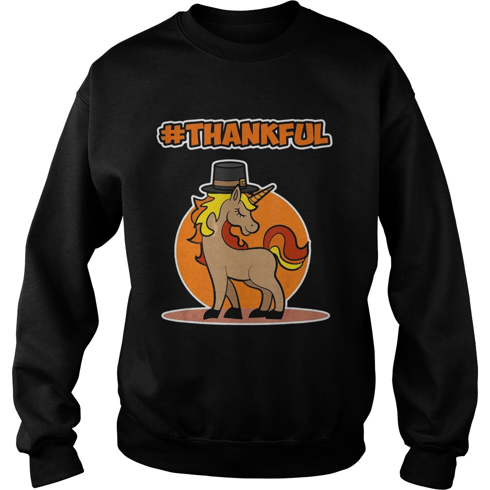 Thankful Unicorn Thanksgiving Sweatshirt