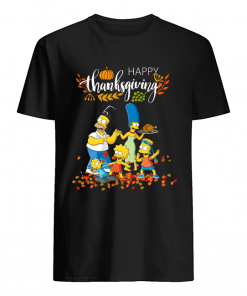 The Simpsons characters happy thanksgiving  Classic Men's T-shirt