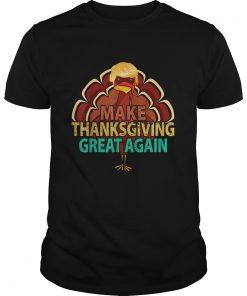 Vintage Make Thanksgiving Great Again Trump Turkey  Unisex