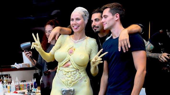 Heidi Klum's Halloween Costume is Gruesome, Gory, and a Complete Secret