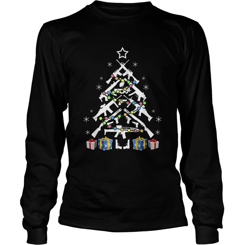 Assault Rifle Handgun Christmas Tree Shirt Masswerks Store