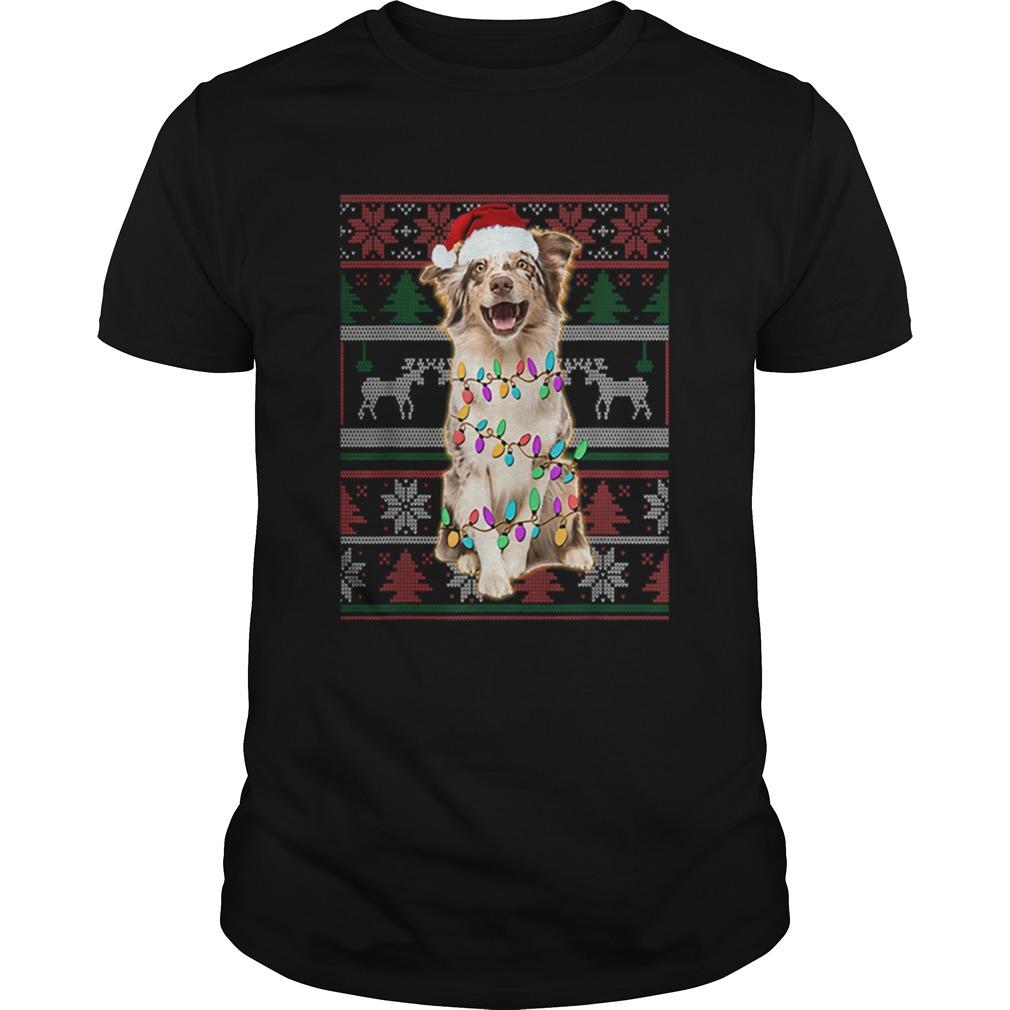 Australian Shepherd Ugly Sweater Christmas Shirt Masswerks Store