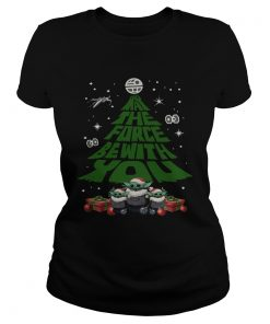 Baby Yoda May The Force Be With With You Christmas Tree  Classic Ladies
